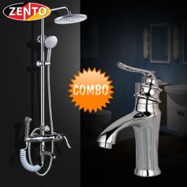 Combo sen cây và vòi lavabo Zento Classic KM108